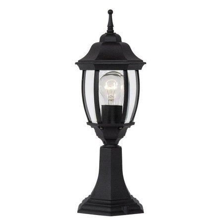 Lampe sur colonne Victorienne noir, blanc, vert antique, E27