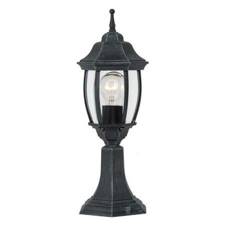 Victoriaanse lamp sokkel zwart of antiek groen E27