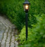 Lantaarn tuinverlichting, zwart of antiek groen, 1,2m H, E27