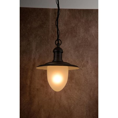 Outdoor hanging lamp glass, black, rusty, E27