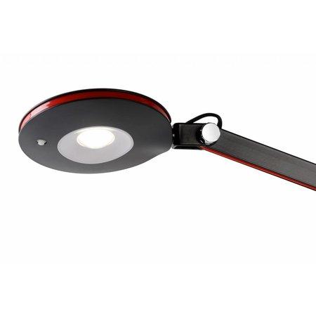 LED bureaulamp wit of zwart met arm flexibel 6W
