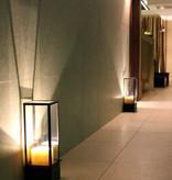 Lampe de table blanche-bronze vintage LED 1 bougie 450