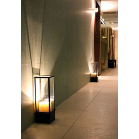 Table lamp design LED vintage glass 1 candle 450mm high