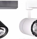 Etalageverlichting railspot 40W wit of zwart