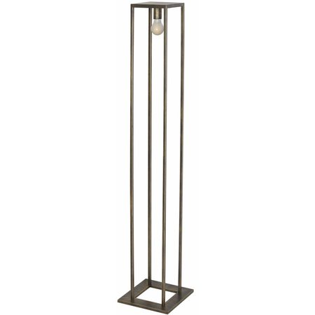 Rustic style floor lamp black, ruggine or copper E27