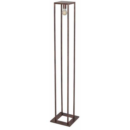 Lampe sur pied rustique noir, cuivre ou ruggine E27