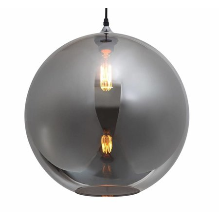 Ball pendant light glass gold or grey 40cm Ø