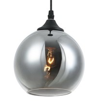 Ball pendant light glass gold or grey 14cm Ø