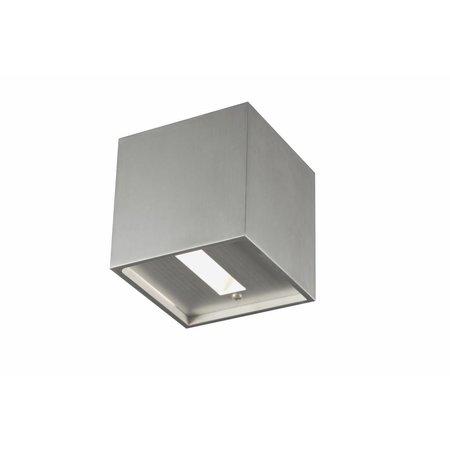 Wandlamp grijs, wit, zwart vierkant 102mm G9