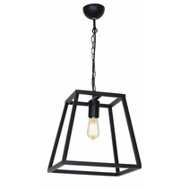 Pendant light black or rust E27 300mm high