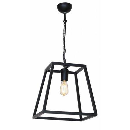 Luminaire suspendu noir ou rouille E27 300mm haut