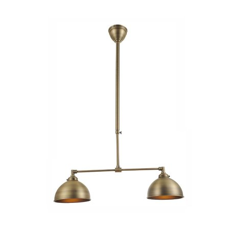 Pendant light silver/bronze lamp shade not included 2xE27 608mm wide