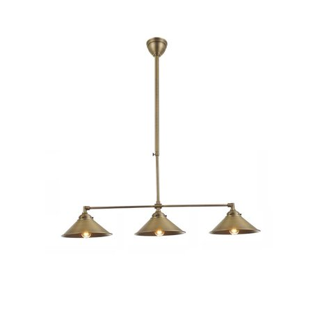 Pendant light silver/bronze lamp shade not included 3xE27 860mm wide