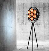 Lampadaire sur pied design noir 2040mm haut E27x7
