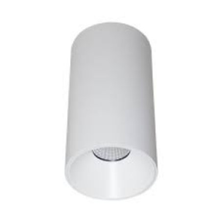 Plafondlamp LED wit zwart cilinder 160mm hoog 13W