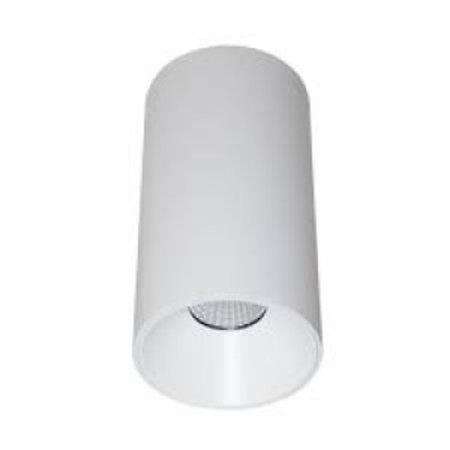 Plafonnier LED cilyndrique noir ou blanc 160mm haut 13W