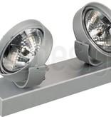 Plafondlamp wit, zwart of zilver 295mm breed richtbaar