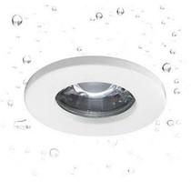 Inbouwspot badkamer IP65 rond transparant 82mm Ø GU10