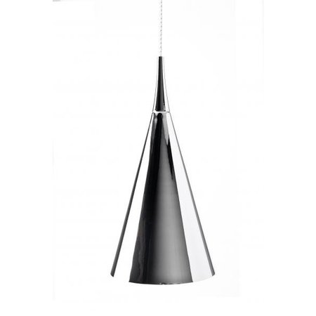 Pendant light design conic chrome, white, black 430mm H