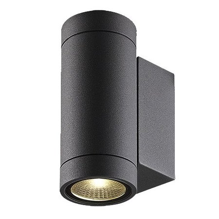 Wandlamp buiten LED up down wit, zwart 160mm H 2x3W