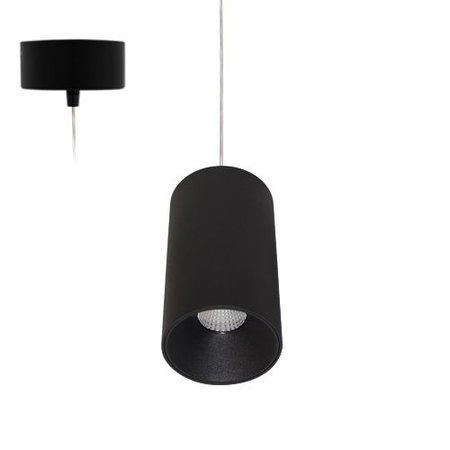 Hanglamp pendel cilinder 11W LED 11W 160mm H wit, zwart