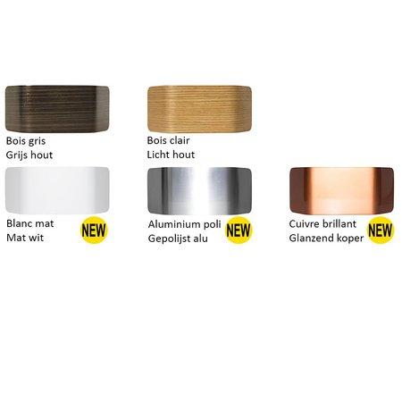 Applique murale bois ou alu LED 7,5W 221mm rectangulaire