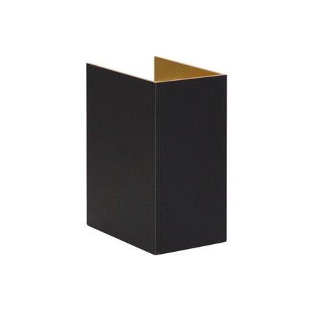 Applique murale rectangulaire noire G9 65mm large