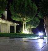 Applique de sol exterieure noire, argent LED 136mm H 3W