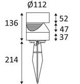 Wandlamp buiten LED rond zwart of zilver 136mm hoog 3W