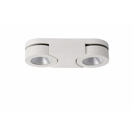 Double wall spotlight LED 2x5W orientable