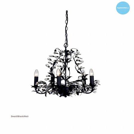 Hanglamp kroonluchter zwart, wit, roest, beige, grijs E14x5