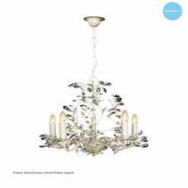 Lustre chandelier noir, rouille, beige, blanc, gris E14x5