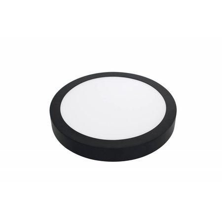 Dimbare plafondlamp rond CCT, 24W zwart of wit