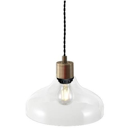 Hanglamp geblazen glas transparant, amber of gerookt