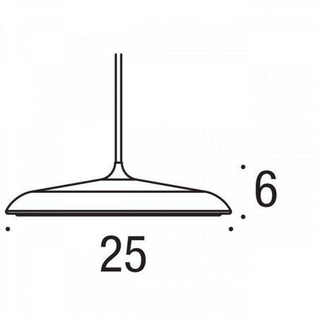 Pendant light round LED mat grey, silvergrey, black white or copper 14W 250mm Ø