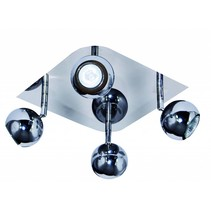 4 spot light chrome GU10 square ceiling