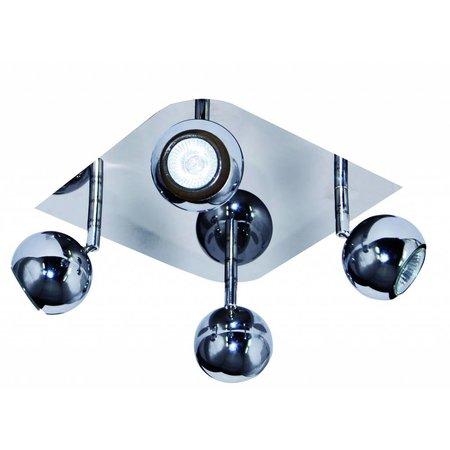 4 spots verlichting chroom GU10 plafond