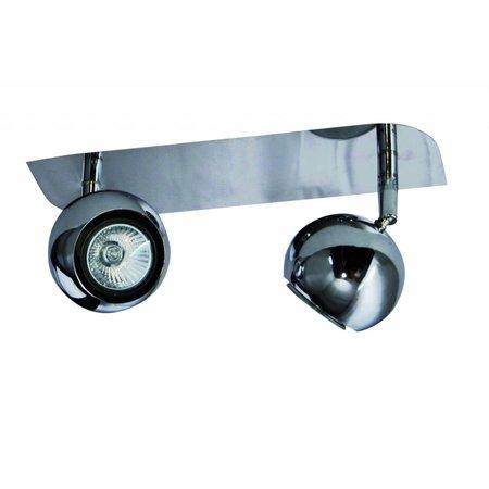 2 light spotlight bar chrome GU10 retro design