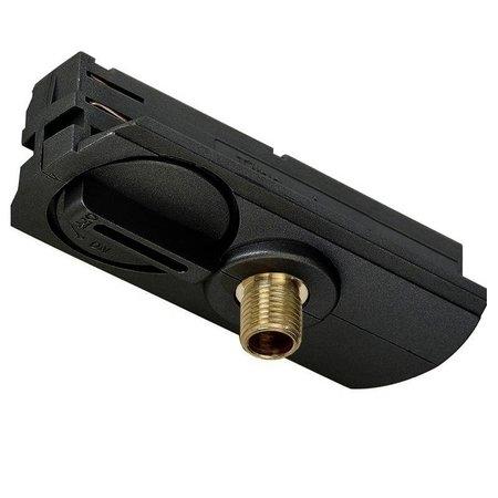 Adaptateur monphasé pour rail blanc, noir