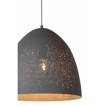 Lampe Orientale suspension 40cm Ø blanc, gris, bleu