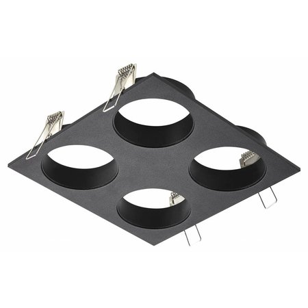 Square downlight for 4 spots white, black or grey