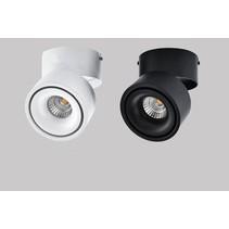 Plafonnier salon moderne LED 15 ou 20W noir ou blanc