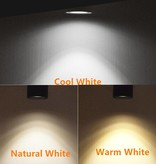 Adjustable spotlight LED 15 or 20W white or black