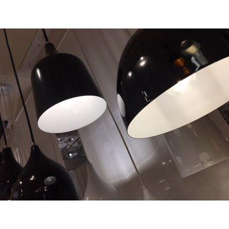 Lustre vintage noir, blanc 120cm long E27x5