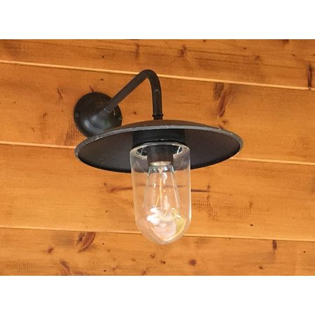 Wandlamp buiten landelijk brons-chroom-nikkel E27 60cm 90°