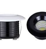 Inbouwspot 50mm diameter LED 5W wit of zwart