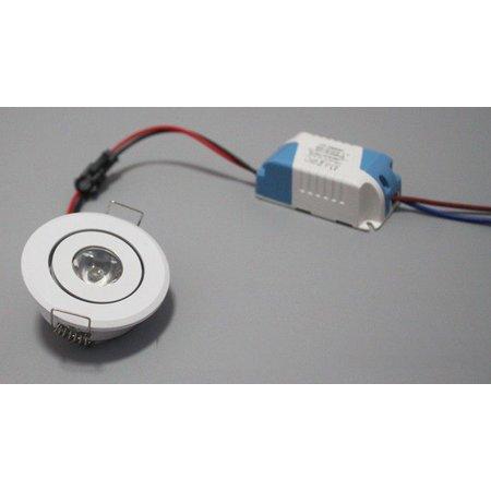 Kastlampje LED 3W kantelbaar