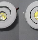 Small LED spot 3W tiltable