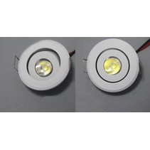 Small LED spot 3W tiltable