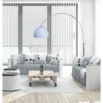 Staande lamp met boog wit 1800-2080mm hoog